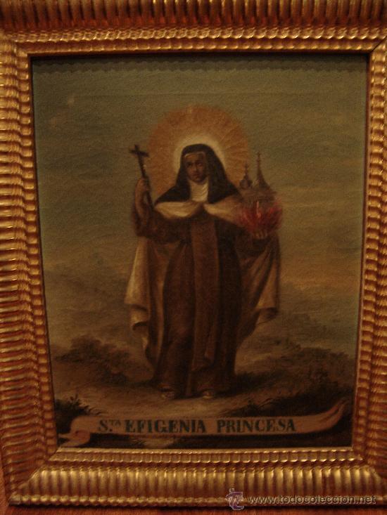 antiguo óleo sobre lienzo de santa efigenia pri - Comprar Pintura ...