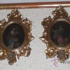 Arte: OLEO SOBRE COBRE (SON 4). S.XVIII. CORNUCOPIA DE MADERA ESTUCO Y PAN DE ORO. LOS 4 EVANGELISTAS.. Lote 36475708