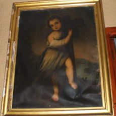 Arte: OLEO SOBRE LIENZO, S.XIX, NIÑO JESUS. Lote 36477122