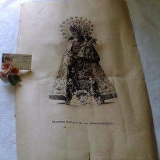 Arte: ARTE-BILBAO.- FOTO MARIN. ANTIGUA GRAN LAMINA, NTRA. SRA. DE LOS DESAMPARADOS.. Lote 36515572