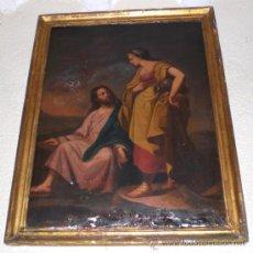 Arte: OLEO SOBRE LIENZO. S.XIX. PINTURA RELIGIOSA - LA SAMARITANA. Lote 36617626