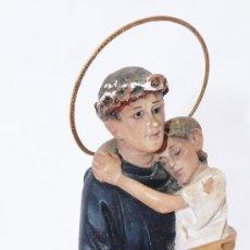 Arte: FIGURA ANTIGUA OLOT SANTO CRISTO OJOS DE CRISTAL SAN JUAN DE DIOS CON NIÑO . Lote 36623980