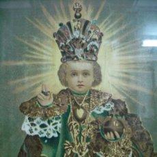Arte: ANTIGUA LITOGRAFIA F. DEL XIX, P. DEL XX NIÑO DE PRAGA. Lote 36651870