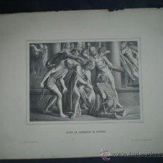 Arte: LITOGRAFIA JESUS ES CORONADO DE ESPINAS S XIX. Lote 36693480