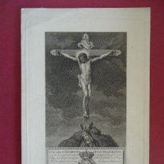 Art: 'CRISTO DE LOS DESAGRAVIOS' GRABADO INDULGENCIA POR MANUEL ALEGRE. SIGLO XVIII-XIX . Lote 36743224