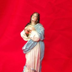 Arte: PRECIOSA INMACULADA DE ESTUCO PP. S.XX. Lote 36790886