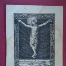 Arte: VALENCIA.GRABADO SIGLO XIX.'IMAGEN DEL SSMO. CRISTO DE SAN SALVADOR'. Lote 36796430