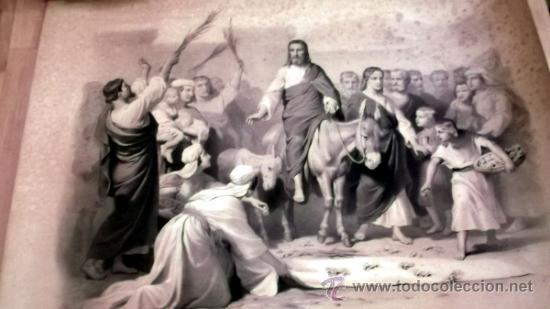 IMPORTANTE GRABADO. ENTRA JESUS EN TRIUNFO EN JERUSALEN L. TURGIS ET FILS (PARIS) (Arte - Arte Religioso - Grabados)