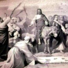 Arte: IMPORTANTE GRABADO. ENTRA JESUS EN TRIUNFO EN JERUSALEN L. TURGIS ET FILS (PARIS). Lote 36815558