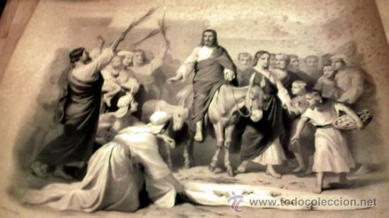 Arte: IMPORTANTE GRABADO. ENTRA JESUS EN TRIUNFO EN JERUSALEN L. Turgis et fils (Paris) - Foto 9 - 36815558