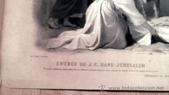 Arte: IMPORTANTE GRABADO. ENTRA JESUS EN TRIUNFO EN JERUSALEN L. Turgis et fils (Paris) - Foto 6 - 36815558