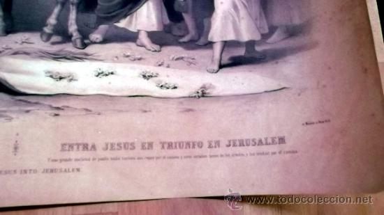 Arte: IMPORTANTE GRABADO. ENTRA JESUS EN TRIUNFO EN JERUSALEN L. Turgis et fils (Paris) - Foto 7 - 36815558