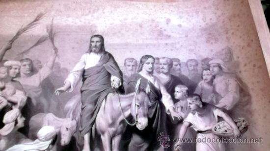 Arte: IMPORTANTE GRABADO. ENTRA JESUS EN TRIUNFO EN JERUSALEN L. Turgis et fils (Paris) - Foto 5 - 36815558