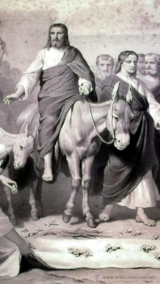 Arte: IMPORTANTE GRABADO. ENTRA JESUS EN TRIUNFO EN JERUSALEN L. Turgis et fils (Paris) - Foto 2 - 36815558