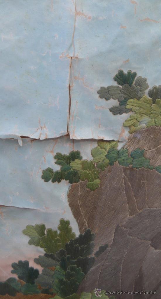 Arte: bordado de una piedad enmarcado, siglo XIX. Marco: 75x71 cm. bordado: 55x50 cm - Foto 5 - 36816348