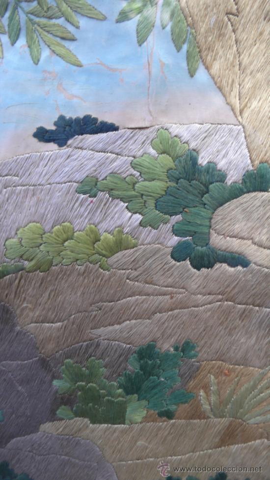 Arte: bordado de una piedad enmarcado, siglo XIX. Marco: 75x71 cm. bordado: 55x50 cm - Foto 3 - 36816348