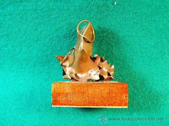 Arte: VIRGEN MARIA, NIÑO JESUS-FIGURA COBRE DE GUILLEM DURAN-SURROCA-5X4X2 CM + PEANA- MEDIADOS SIGLO XX. - Foto 3 - 36868499