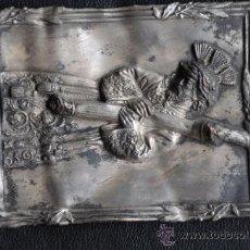 Arte: JESUS DEL GRAN PODER SEVILLA ANTIGUA PLACA DE COBRE FIRMADA AYM. Lote 36919058