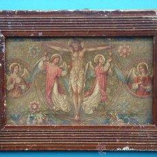 Arte: LITOGRAFÍA S/PAPEL, CON MARCO DE ÉPOCA -SANGRE DE CRISTO-. 17,5X12,250 CMS.. Lote 36890259