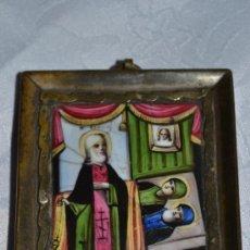 Arte: EXCEPCIONAL ESMALTE DOBLE RELIGIOSO TIPO ICONO,POSIBLEMENTE RUSO,S.XVIII-XIX. Lote 36944311
