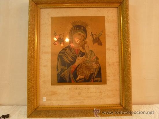 LAMINA SANTA MARIA DE PERPETUO SOCORRO (Arte - Arte Religioso - Litografías)