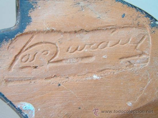 Arte: ESPECTACULAR VIRGEN DE MONTSERRAT NEOGÓTICA.TERRACOTA. 53 cm. JOSÉ DURÁN firmada. S.XIX. - Foto 11 - 37062183