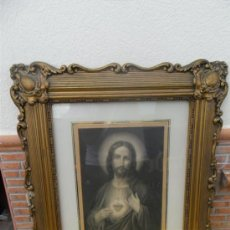 Art: LAMINA ANTGUA RELIGIOSA Y MARCO. Lote 37201648