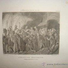 Arte: GRABADO RELIGIOSO, JERUSALEN DESTRUIDO PERSAS, BELL, LONDRES, 1834, DATADO EN PLANCHA,. Lote 37297970