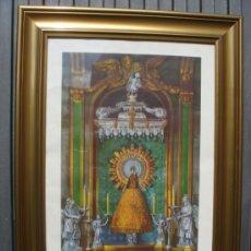 Arte: MAGNIFICO GRABADO DE LA VIRGEN DEL PILAR. UNICA ESTAMPA OFICIAL DEL CAMARIN DE NTRA. SRA. 1940. VER!. Lote 37456372