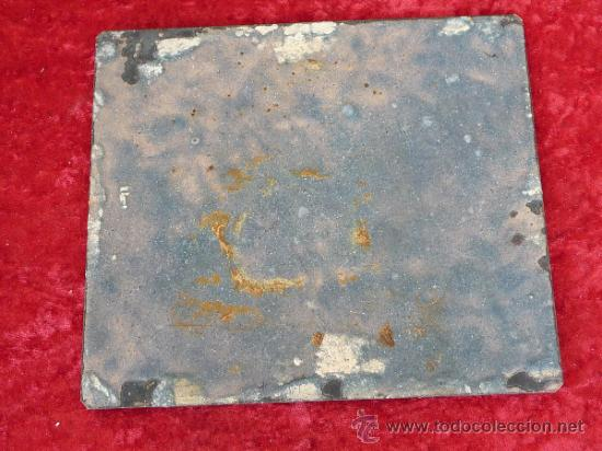 Arte: Antigua placa esmaltada de la Santa Cena. - Foto 6 - 37436716