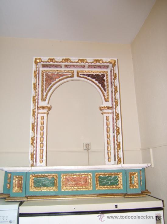 Arte: parte central capilla retablo barroco - Foto 7 - 37351751