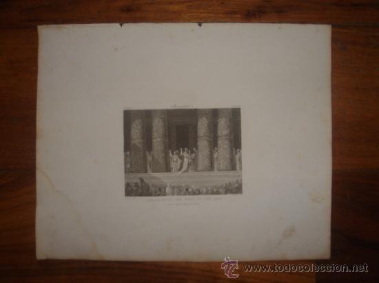 Arte: GRABADO RELIGIOSO, REY JOSÍAS, BELL, LONDRES, 1834, DATADO EN PLANCHA, - Foto 2 - 37385219