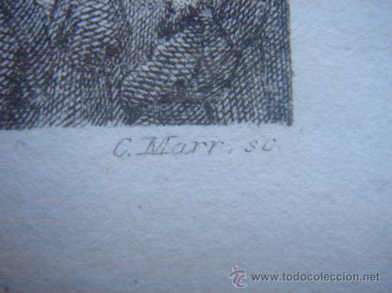 Arte: GRABADO RELIGIOSO, REY JOSÍAS, BELL, LONDRES, 1834, DATADO EN PLANCHA, - Foto 12 - 37385219
