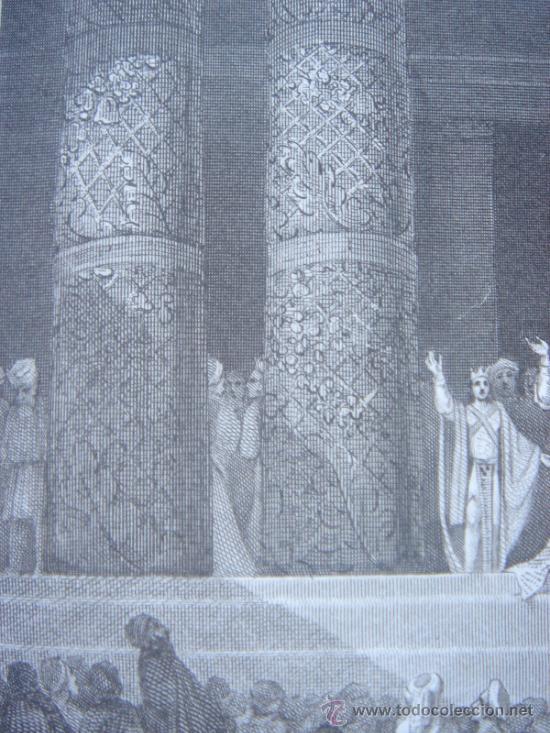 Arte: GRABADO RELIGIOSO, REY JOSÍAS, BELL, LONDRES, 1834, DATADO EN PLANCHA, - Foto 13 - 37385219
