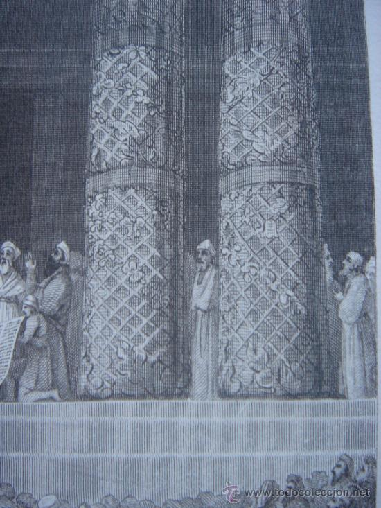 Arte: GRABADO RELIGIOSO, REY JOSÍAS, BELL, LONDRES, 1834, DATADO EN PLANCHA, - Foto 15 - 37385219