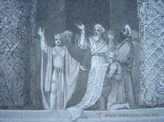 Arte: GRABADO RELIGIOSO, REY JOSÍAS, BELL, LONDRES, 1834, DATADO EN PLANCHA, - Foto 16 - 37385219