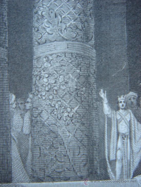 Arte: GRABADO RELIGIOSO, REY JOSÍAS, BELL, LONDRES, 1834, DATADO EN PLANCHA, - Foto 17 - 37385219