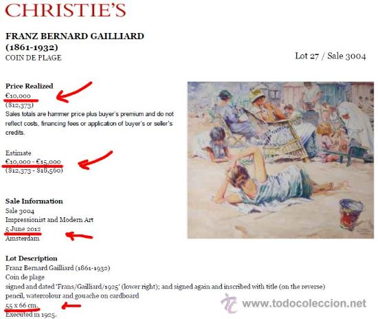 Arte: FRANZ GAILLIARD (Bélgica, 1861-1932) - NOÉ: DILUVIO UNIVERSAL - Foto 2 - 28365529