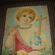 Arte: NIÑO JESUS LITOGRAFIA S XIX. Lote 37421357