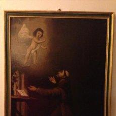 Arte: PINTURA AL OLEO SAN ANTONIO PADUA S. XVIII. Lote 37430057