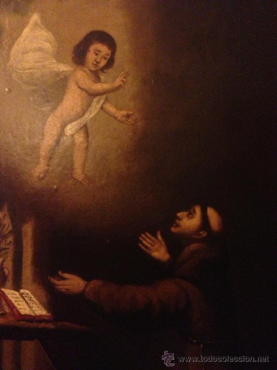 Arte: PINTURA AL OLEO SAN ANTONIO PADUA S. XVIII - Foto 2 - 37430057