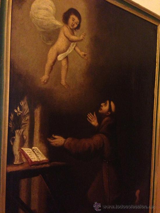 Arte: PINTURA AL OLEO SAN ANTONIO PADUA S. XVIII - Foto 4 - 37430057