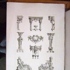 Arte: 1857 GRABADOS DE GOUPIL-VIBERT Y CIA. ARQUITECTURA Y ORFEBRERÍA 55,5X36. Lote 37480473