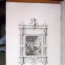 Arte: 1857 GRABADO DE GOUPIL-VIBERT Y CIA. ARQUITECTURA T ORFEBRERÍA 55,5X36. Lote 37480604