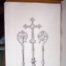 Arte: 1857 GRABADO DE GOUPIL-VIBERT Y CIA. ARQUITECTURA T ORFEBRERÍA 55,5X36. Lote 37480669
