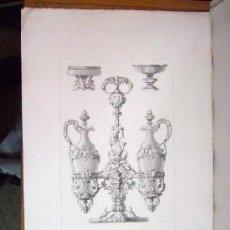 Arte: 1857 GRABADO DE GOUPIL-VIBERT Y CIA. ARQUITECTURA T ORFEBRERÍA 55,5X36. Lote 37480704