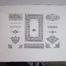 Arte: 1857 GRABADO DE GOUPIL-VIBERT Y CIA. ARQUITECTURA T ORFEBRERÍA 55,5X36. Lote 37480753