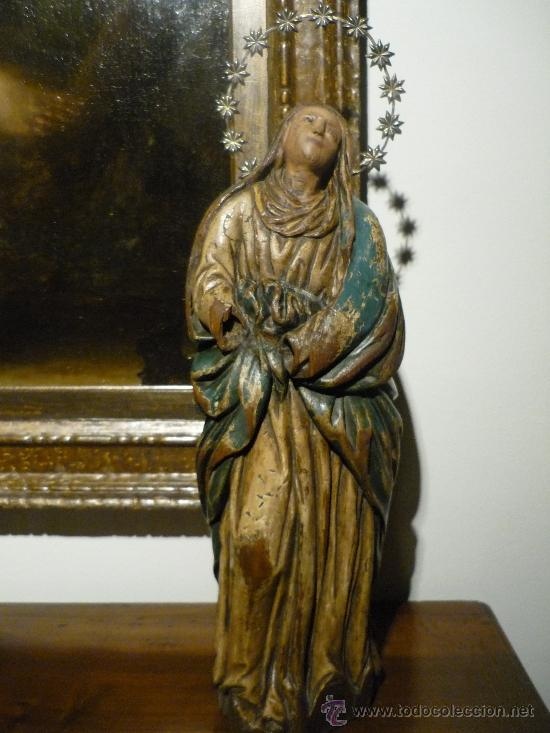 VIRGEN INMACULADA. TALLA EN MADERA POLICROMADA. SIGLO XVII. (Arte - Arte Religioso - Escultura)