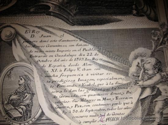 Arte: ANTIQUISIMO GRABADO DE NTRA SRA DE GUADALUPE. AÑO 1789. !!!VER FOTOS!!! - Foto 6 - 37594116