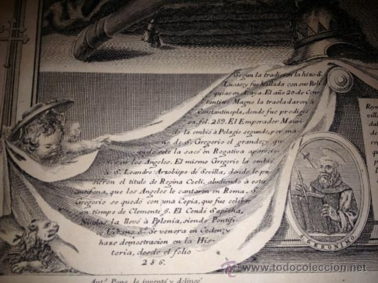 Arte: ANTIQUISIMO GRABADO DE NTRA SRA DE GUADALUPE. AÑO 1789. !!!VER FOTOS!!! - Foto 7 - 37594116